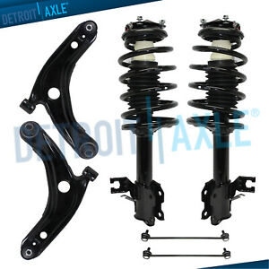2 Front Strut /& Coil Spring for 2012 2013 2014 2015 Toyota Prius C