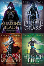 THE THRONE OF GLASS BOOK SERIES VOLUMES 1-3 PLUS THE PREQUEL ASSASSIN'S BLADE!!!