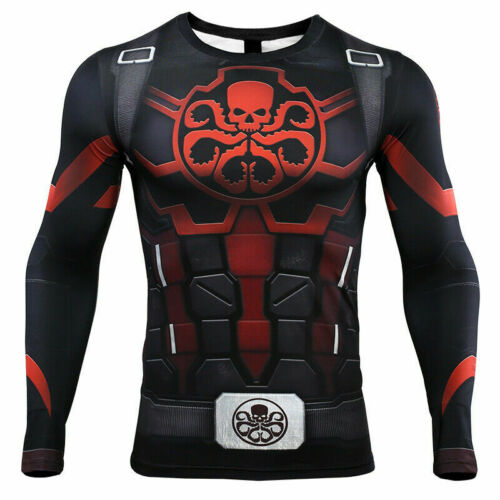 Avengers Endgame Hydra T-Shirts Cosplay Agents of Shield Compression T-Shirts