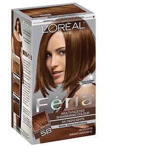 Loreal Feria Multi Faceted Shimmering Haircolor 58 Bronze
