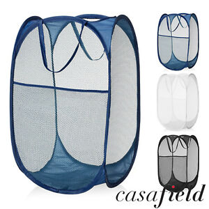 aab1be6344d8 Details about Collapsible Mesh Pop Up Laundry Clothes Hamper Basket -  Bathroom/Kids/Nursery