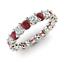 thumbnail 1 - 2.54 Ct Round Cut Diamond Engagement Ruby 14K White Gold Finish Eternity Band