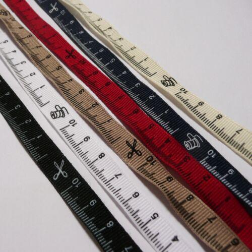 10cm gobernante Design /& Icons 2 metros de cinta métrica cinta del grosgrain 10mm Ancho