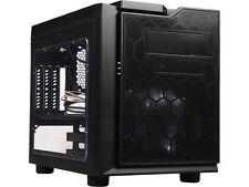 APEVIA X-QPACK3-CL Black Case w/ White LED Fan SECC Black Metal Micro ATX Cube C