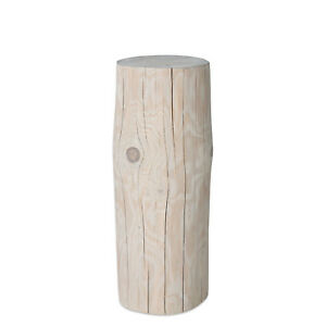 Baumstamm gartendeko massivholz fichte wei ge lt for Gartendeko baumstamm
