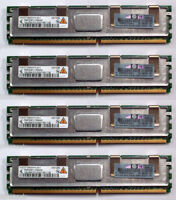 4x HP Original 1Gb PC2-5300F DDR2 SDRAM DIMM ECC HP DL360 G6 DL380 G5 398706-051
