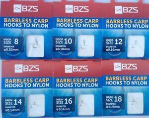 BZS-sans-ardillon-crochets-pour-nylon-taille-8-10-12-14-16-18-20-a-la-carpe