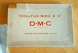 Boite Ancienne de fil DOLLFUS et Cie 10 pelotes de 5 grammes