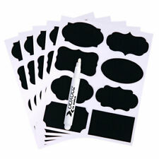 40pcs Chalkboard Blackboard Stickers Decals Craft Kitchen Chalk Board Jar Labels
