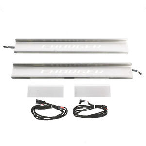 OEM-MOPAR-NEW-15-19-DODGE-CHARGER-STAINLESS-STEEL-ILLUMINATED-DOOR-SILL-GUARDS