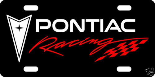 CAR TAG PONTIAC RACING CUSTOM LICENSE PLATE