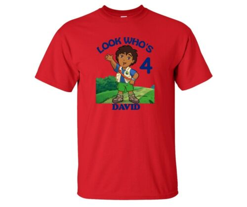 Go Diego Go Personalized Custom Birthday Shirt in 8 Different Colors