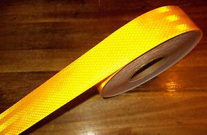 Konturmarkierung Reflektorfolie Gelb Selbstklebend Meterware 2,95/m Arbeitskleidung & -schutz