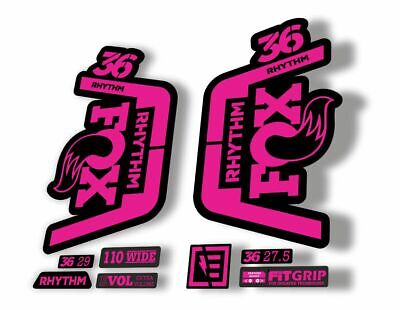 FOX 36 Rhythm 2019 Forks Suspension Factory Decal Sticker Adhesive Pink