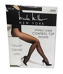 aacbf47978217 Nicole Miller Women's Control Top Perfect Sheer Tights Pantyhose 2 ...