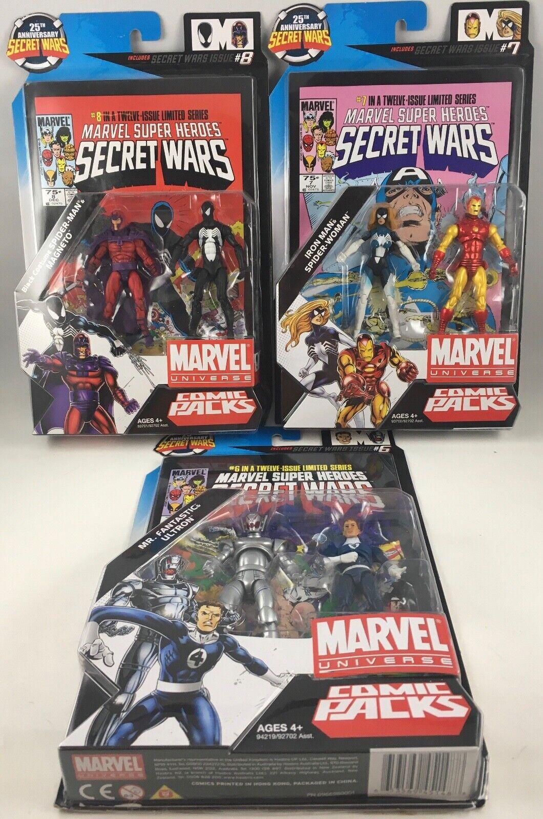 LOTTO di 3 MARVEL Universe Super Heroes Secret guerras FUMETTO Pack 3 34' SIGILLATO