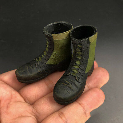 """1:6 Male US Army PMC Sand Color Old Combat Hollow Boots For 12/"""" Action Figure"""