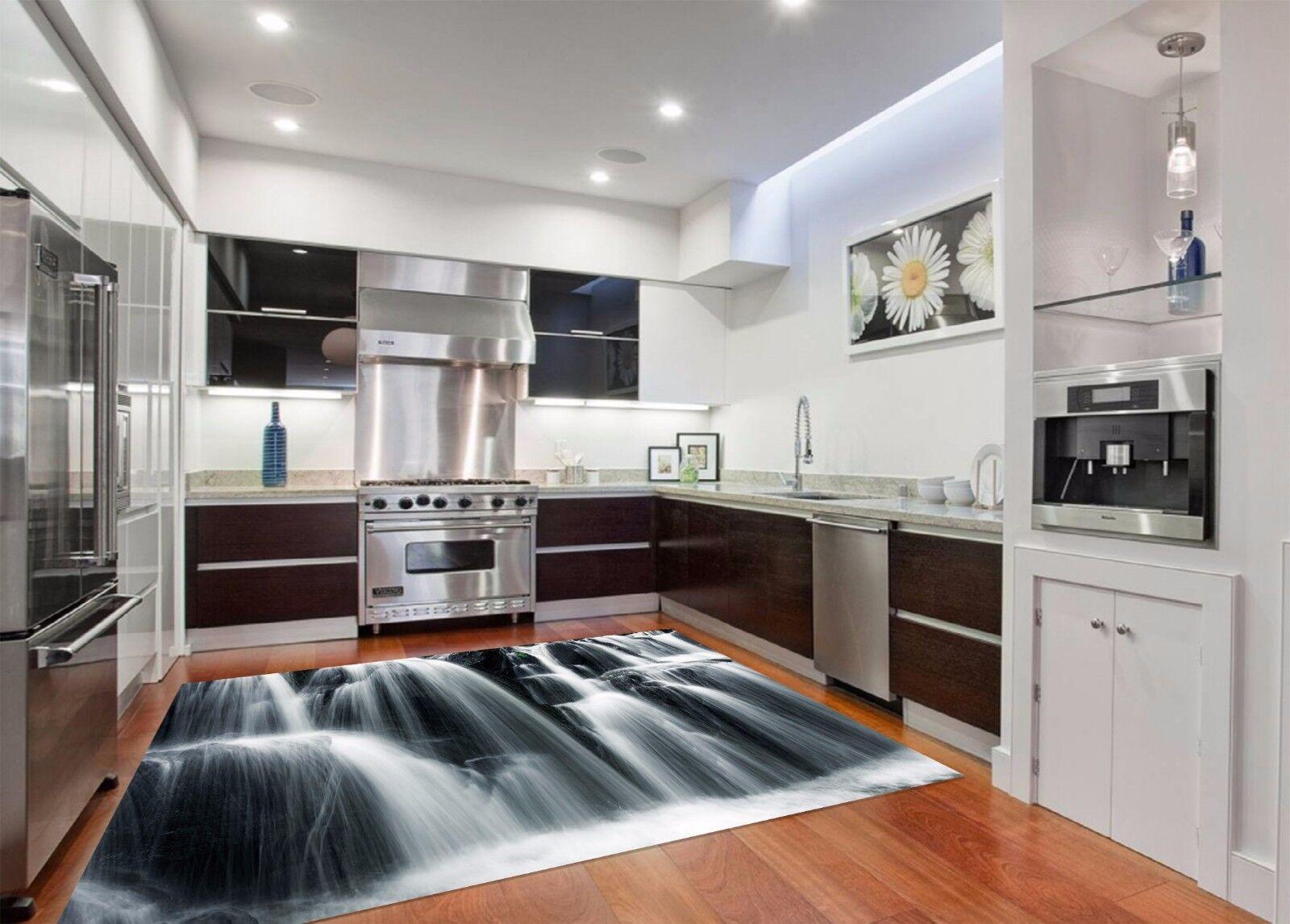 3D Waterfall 100 Kitchen Mat Floor Murals Wall Print Wall Deco AJ WALLPAPER AU