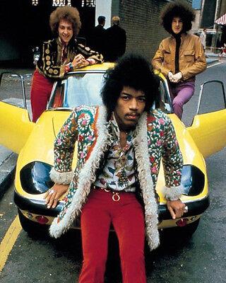Jimi Hendrix Awesome Colour Car Pose 10x8 Photo