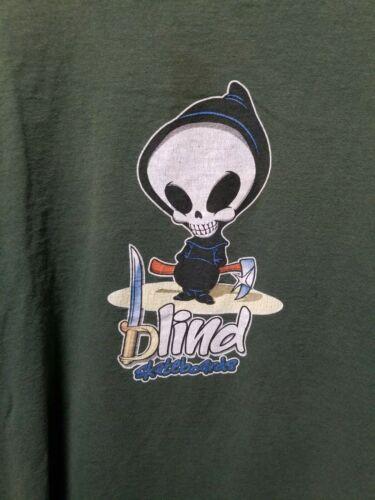 Vintage Blind Skateboards Reaper Shirt - Size XL -