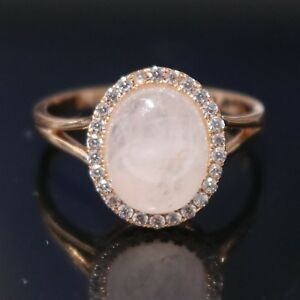 Sparkling-3-Ct-Rose-Quartz-Moissanite-Halo-Ring-14K-Rose-Gold-Plated-Jewelry