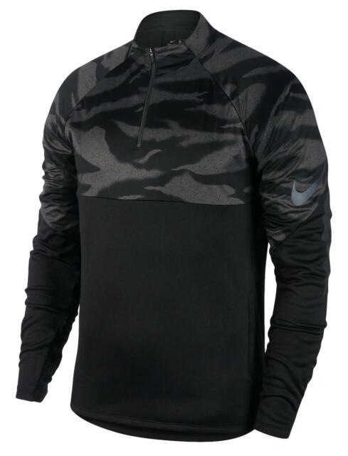 Nike Mens Aeroswift Strike Drill 1//4 Zip Soccer Training Shirt Black 858872 New