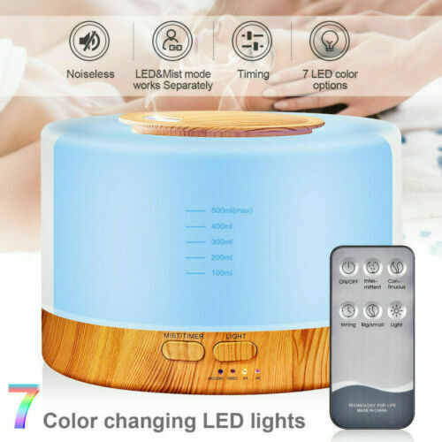 Details about  /Aroma Diffuser Humidifier Aromatherapy Essential Oils 500ml Remote Control show original title