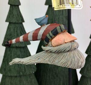 Williraye Studio Folk Art Santa w/ Bluebird Hanging ...