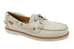 Sebago-Men-039-s-Crest-Docksides-Beige-Nubuck-Boat-Shoe