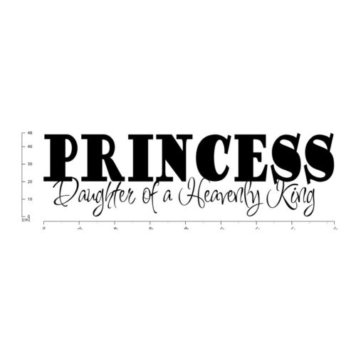 Princess Daughter Of A King Bible Verse Wall Sticker WS-17705