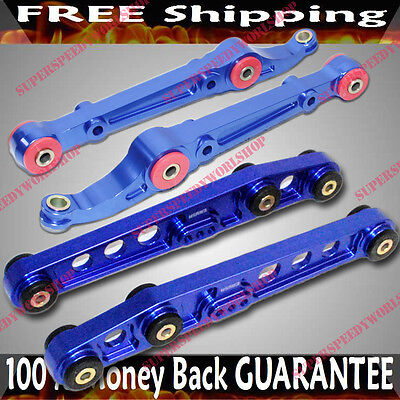 RED Front/& Rear Lower Control Arms  92-95 Civic//94-01 Integra//93-97 Del Sol
