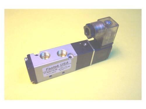 """Fastek USA Solenoid Valve Single Solenoid 1//8/"""" NPT Model N4V-110-06-12VDC"""
