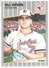 1989 Fleer #616A BILLY BILL RIPKEN Error/Rick F*** Face written/on knob of bat
