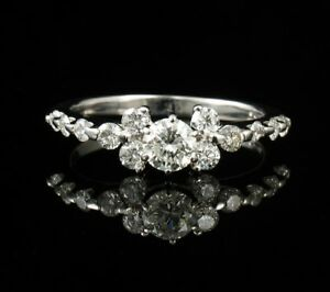 a4f4596e1 KAY JEWELERS ROUND NATURAL 1.36ctw DIAMOND SOLID 14K WHITE GOLD ...