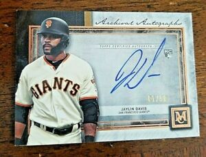 2020-Topps-Museum-Collection-JAYLIN-DAVIS-Archival-Autographs-1-50-RC