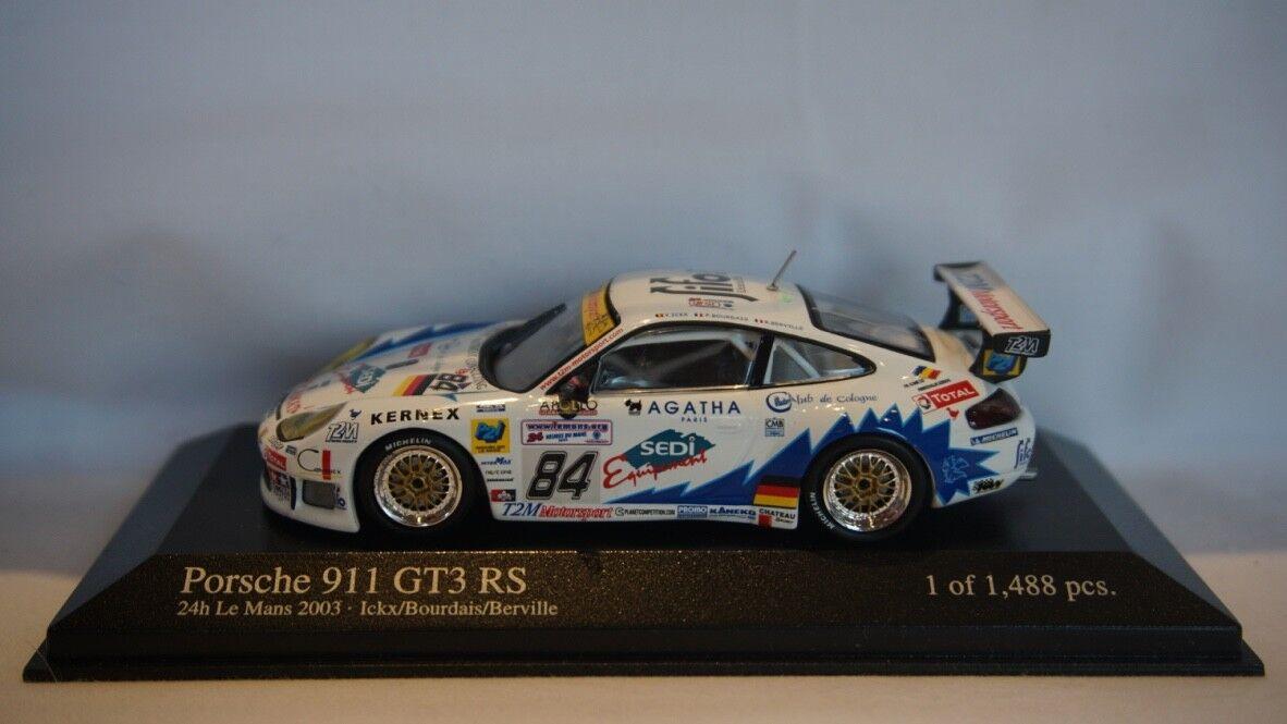 EXTREMELY RARE Minichamps Porsche 911 GT3 GT3 GT3 RS Le Mans 24hr 2003  43 911e7d