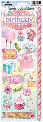 PAPER HOUSE BIRTHDAY SWEET GIRL PARTY CELEBRATION CARDSTOCK SCRAPBOOK STICKERS
