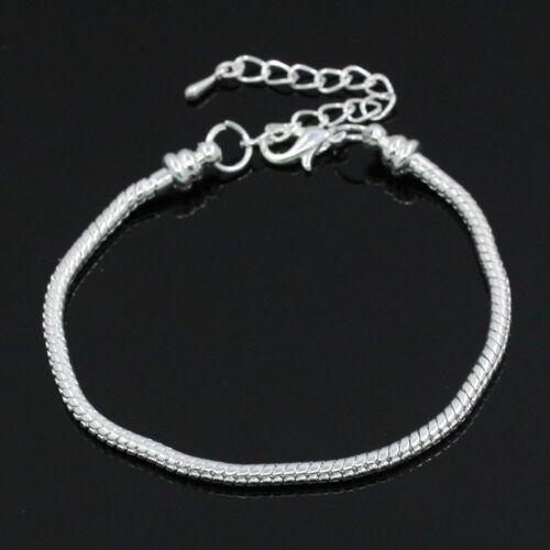 Children/'s Kid/'s Teen Adult European Charm Bracelet Snake chain Lobster clasp