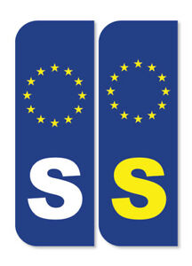 2 x SWEDISH Car Number Plate vinyl stickers