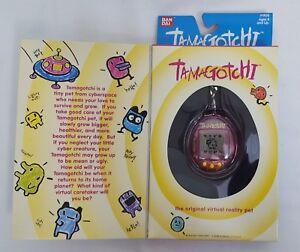 1996/1997 Bandai Original TAMAGOTCHI Virtual Pet v1 PINK/YELLOW #1800 NEW