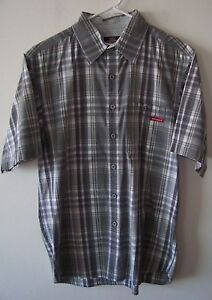 Vintage-Dickies-Casual-Button-Front-Skater-Shirt-Med