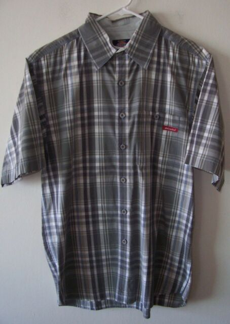 Vintage Dickies Casual Button Front Skater Shirt Med