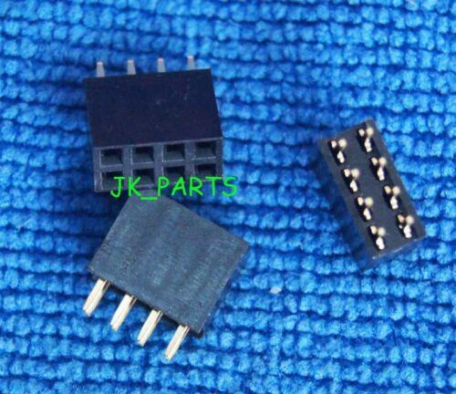 50PCS 2x4 Broche 8P 2.54 mm Double Row Female Straight Header Pitch Socket Pin Strip