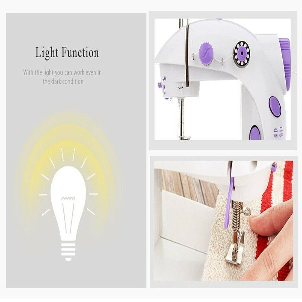 s l1600 - Portable Desktop Mini Electric Sewing Machine Handheld Household Tailor 2 Speed