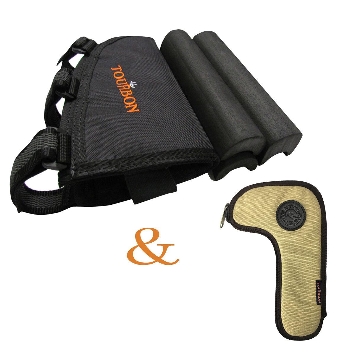 Tourbon Gun Cheek Rest Piece Pad Ammo Pouch & Bolt Holder Holster Rifle Hunting