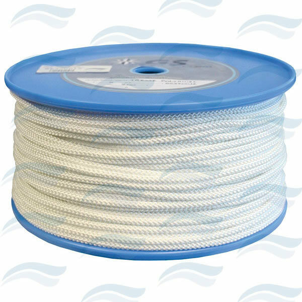 Rope POLYAMIDE white for mooring rope 32 10 12ft Ø0 1 4in