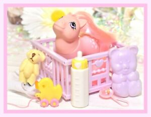 My-Little-Pony-MLP-G1-Vtg-BABY-Cotton-Candy-Play-039-n-Care-ACCESSORIES-Playpen