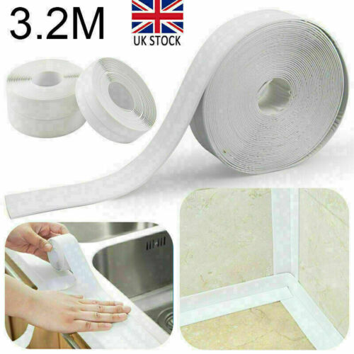 Strip UK Bath Sealing Bath Wall Tape Kitchen Sink Caulk Basin Self-Adhesive Edge