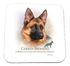 German Shepherd//Alsatian White Coaster No2 by Starprint