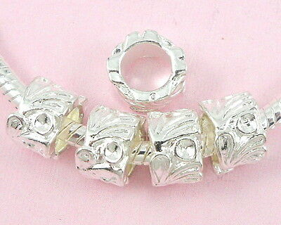 30pcs Silver Plated Charms Beads Fit European Bracelet SY10